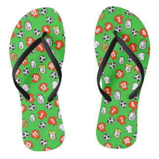 Football Theme Flip Flops in your Club Colours