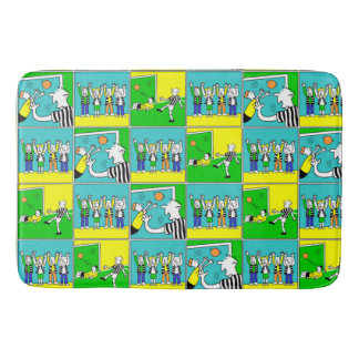 Football Theme Players and Fans Bath Mat