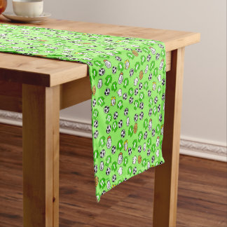 Football Theme with Green Shirts Short Table Runner