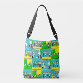 Football Theme with Players and fans Crossbody Bag