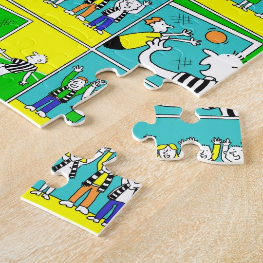 Football Theme with Players and Fans Jigsaw Puzzle