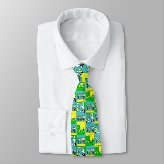 Football Theme with Players and Fans Tie