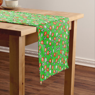 Football Theme with Red Shirts Short Table Runner