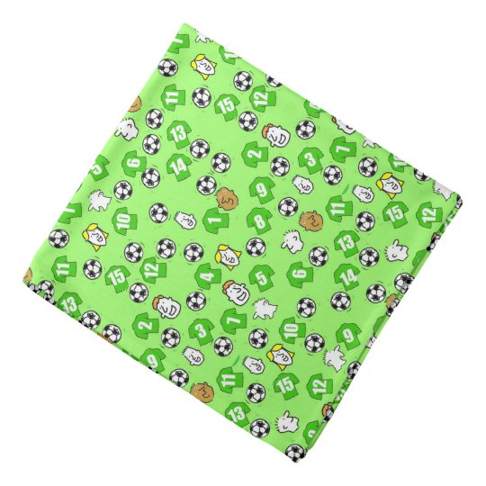 Football Theme with Shirts in Green Bandana