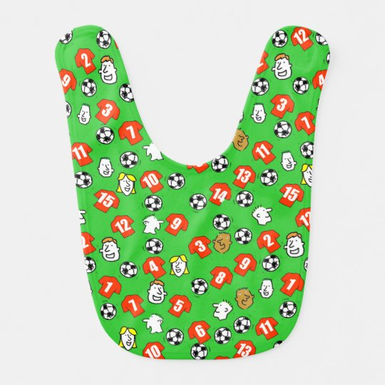 Football Theme with Shirts in Red Bib