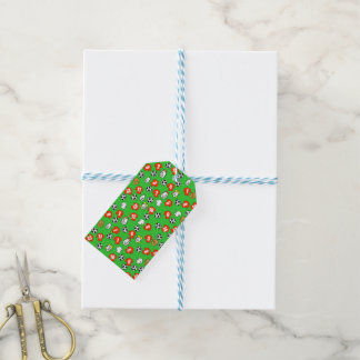Football Theme with Shirts in Red Gift Tags
