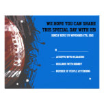 Football Themed Bar Bat Mitzvah Reply Card