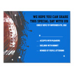 Football Themed Bar Bat Mitzvah Reply Card 11 Cm X 14 Cm Invitation Card