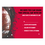 Football Themed Bar Bat Mitzvah Reply Card Personalized Invitation
