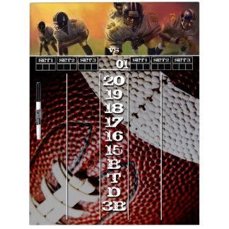Football Themed Darts Scoreboard Dry Erase Board