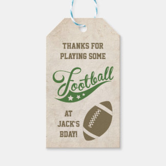 Football Themed Favour Tags
