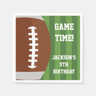 Football Themed Napkins | Paper Party Goods Disposable Napkins