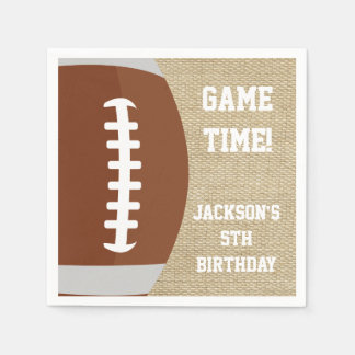 Football Themed Napkins | Paper Party Goods Disposable Serviette