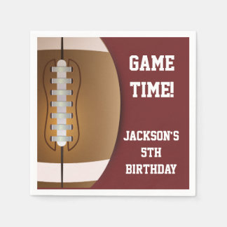 Football Themed Napkins | Paper Party Goods Disposable Serviettes