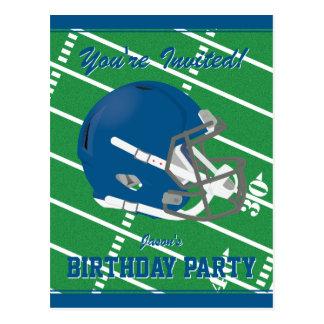 Football Themed Party Invitation Postcard Editable