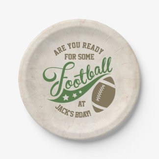 Football Themed Party Plates 7 Inch Paper Plate