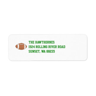 Football themed return address label