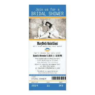 Football Ticket Bridal Shower 10 Cm X 24 Cm Invitation Card