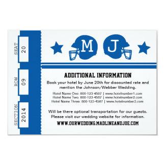 Football Ticket Wedding Information 9 Cm X 13 Cm Invitation Card