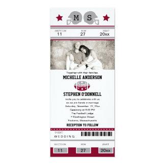 Football Ticket Wedding Invitation