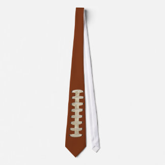 Football Tie, Brown, Laces Tie