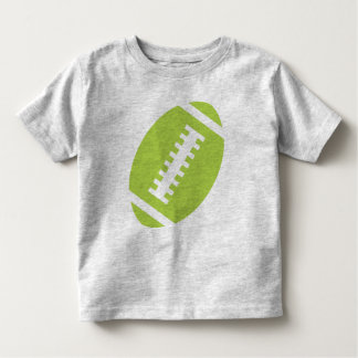 FOOTBALL TODDLER Gray | Front Lime Football Tee Shirts