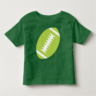 FOOTBALL TODDLER Green | Front Lime Football T Shirts