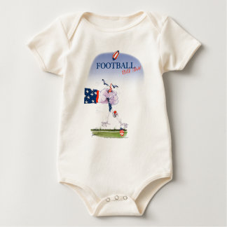 Football touch down, tony fernandes baby bodysuit
