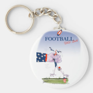 Football touch down, tony fernandes key ring