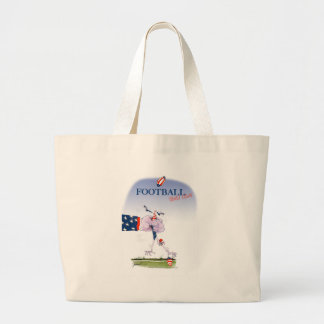 Football touch down, tony fernandes large tote bag