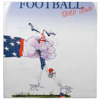 Football touch down, tony fernandes napkin