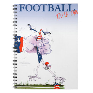 Football touch down, tony fernandes notebooks