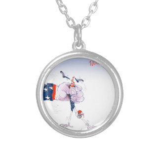 Football touch down, tony fernandes silver plated necklace