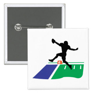 football touchdown vector graphic 15 cm square badge