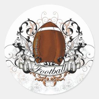 Football Tribal Round Sticker