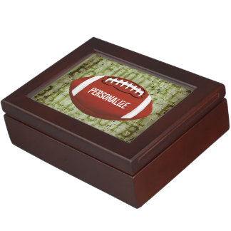 Football Vintage Green Grunge Keepsake Box