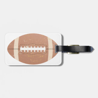football vintage luggage tag