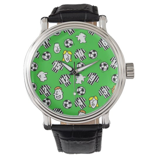 Football Watch - with Black & White Striped