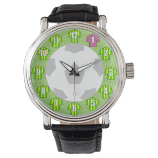 Football Watch - with Green & Yellow Shirts
