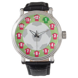 Football Watch - with Red & White Shirts