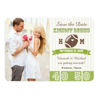 FOOTBALL WEDDING SAVE THE DATE CARD 13 CM X 18 CM INVITATION CARD