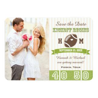 FOOTBALL WEDDING SAVE THE DATE CARD 13 CM X 18 CM INVITATION CARD