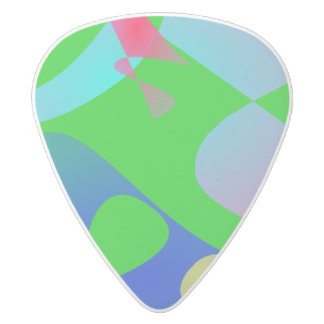 Football White Delrin Guitar Pick