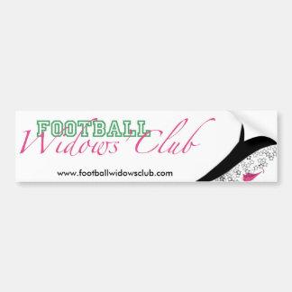 Football Widows' Club Official Bumper Sticker