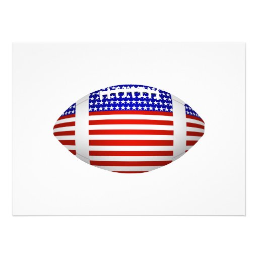 Football With American Flag Design (1) Announcement
