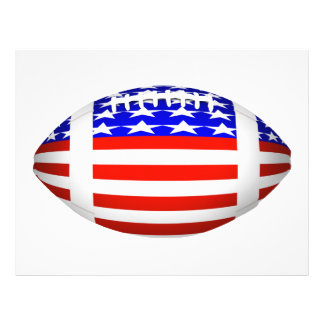 Football With American Flag Design (2) Flyer