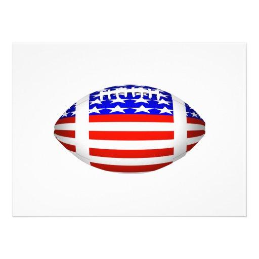 Football With American Flag Design (2) Invitation