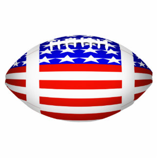 Football With American Flag Design (2) Cut Out