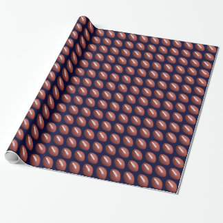 Football Wrapping Paper, Dark Blue Background Wrapping Paper