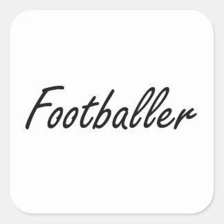 Footballer Artistic Job Design Square Sticker